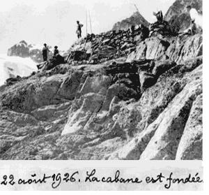 22 août 1926. La cabane est fondée